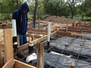 Foundation-checking plumbing